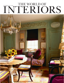 magazine cover the world of interiors