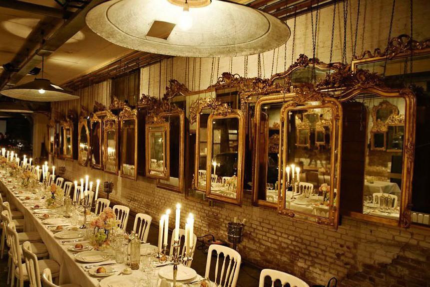 Event Louis Vuitton dinner voor antieke spiegels in Atelier van Anouk Beerents