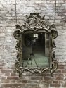 Antique mirror Louis XVI 19th century silver
