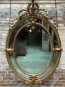 Ronde antieke spiegel 19e eeuw