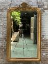 antieke spiegel 18e eeuw Louis XV met kuif