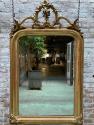 Schouwspiegel antiek met kuif Louis XVI